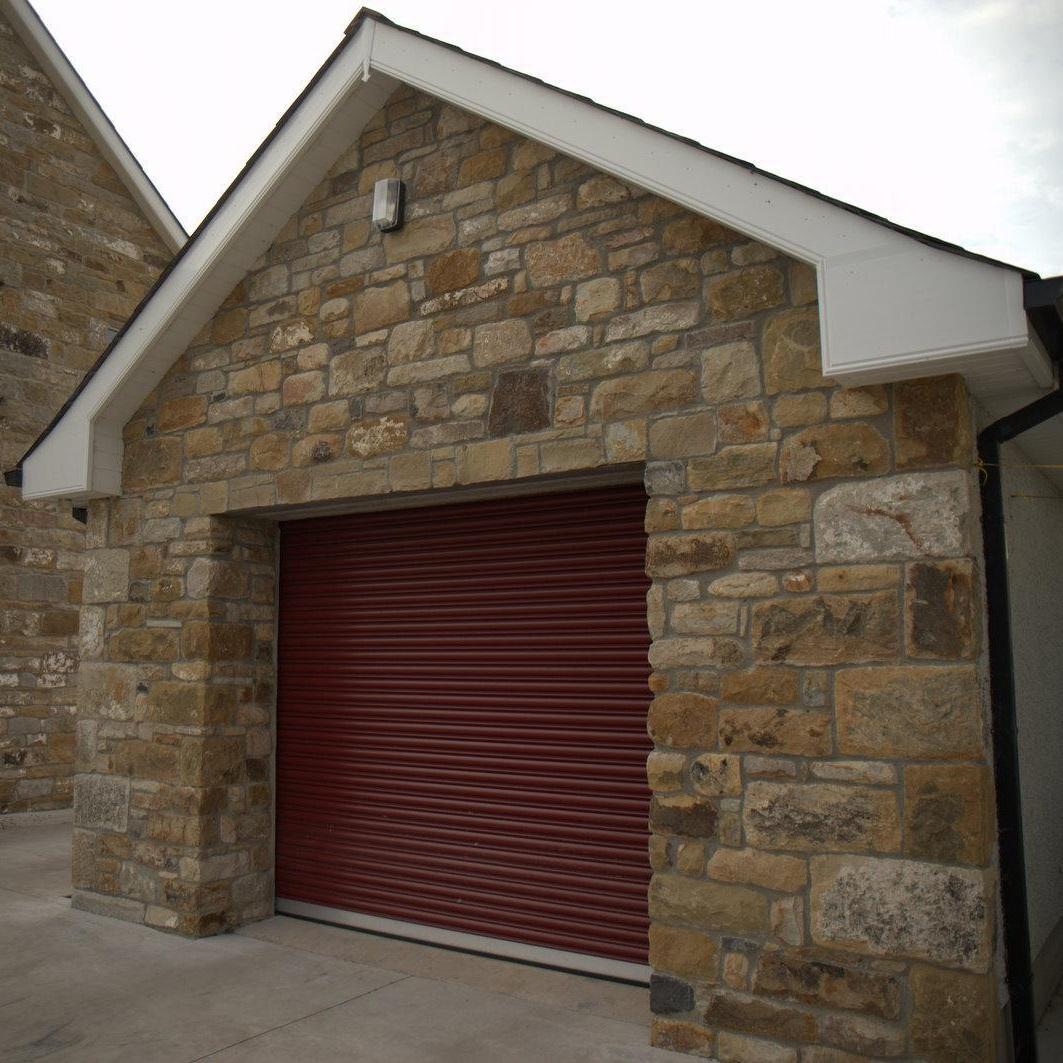 Red Heavy Duty Roller Door